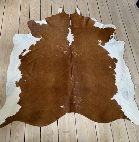 Skóra bydlęca, Ikea Koldby, dywan, brązowa