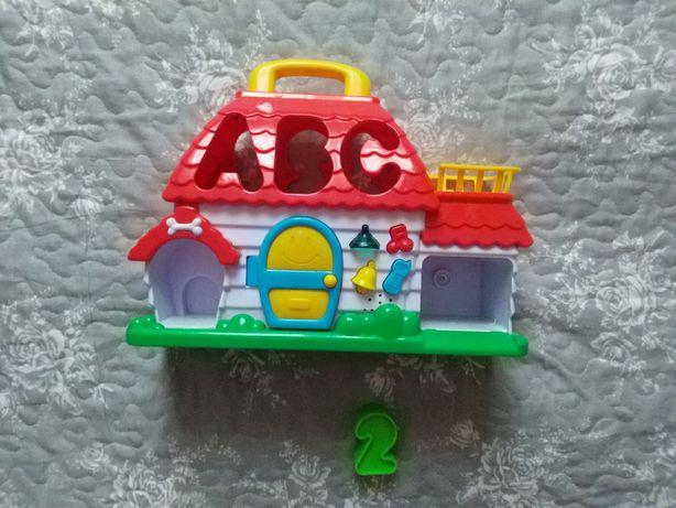 Домик сортер дом музыкальный abc 123 игрушка