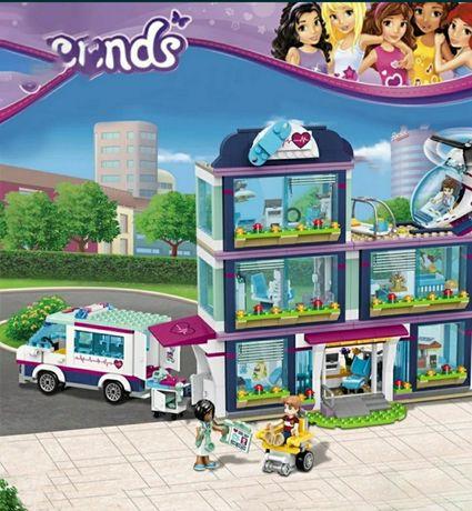 Nowe klocki SZPITAL w HEARTLAKE 41318 , 932 elementy jakości jak LEGO