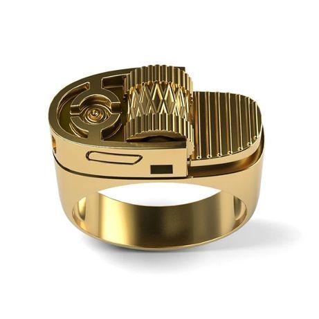 Мужское кольцо бижутерия зажигалка каблучка муляж
