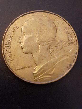 Moeda 10 cêntimos França 1975 - Moeda 5 Pesetas 1998