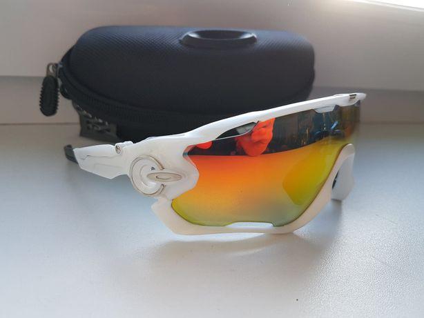 Nowe Okulary sportowe rowerowe Jawbreaker kolarskie 5 par szkieł