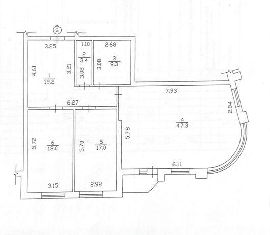 2-х кімнатна квартира в новобудові від забудовника