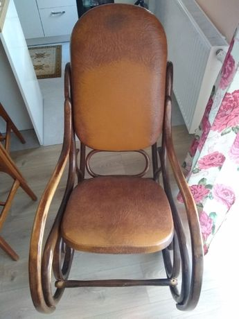 Fotel bujany lite drewno