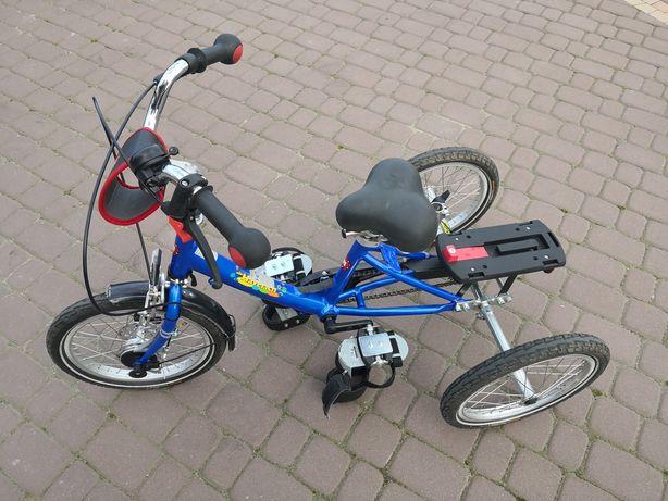 Rower 3 kołowy rehabilitacyjny dla dziecka kola 16 stan bdb alu.