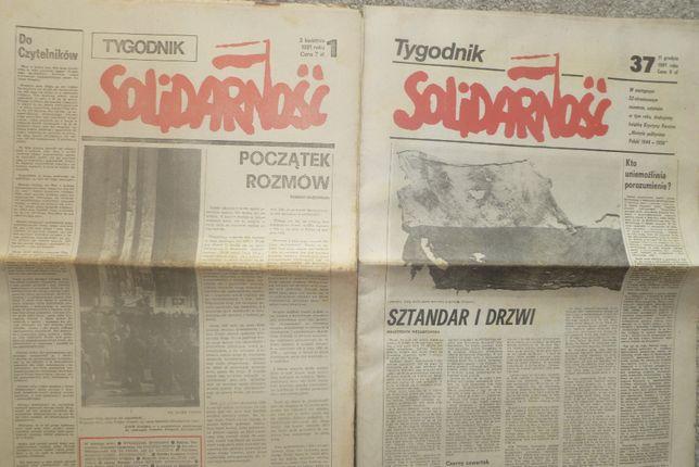 """Tygodnik """"Solidarność"""" z 1981 od Nr 1 do Nr 37"""