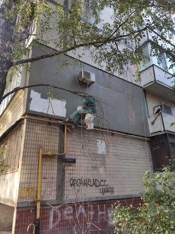 Ремонт кровли балконов и лоджий, укладка руберойда, верхолазные работы