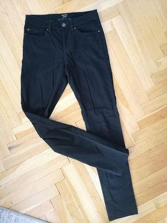 Spodnie czarne elastyczne slim fit  28/32