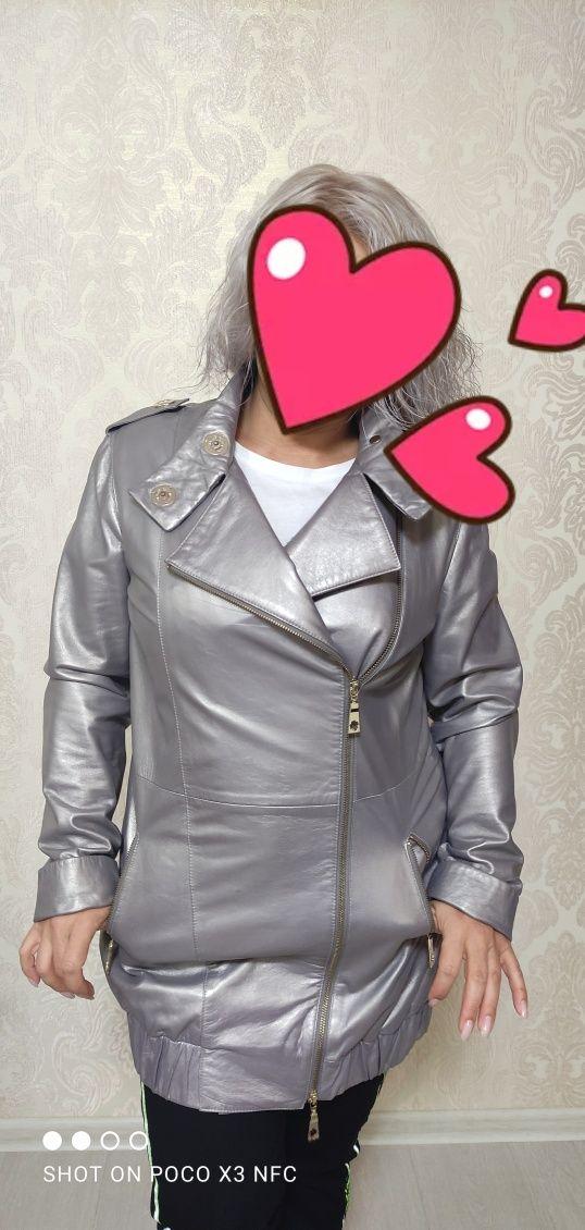 Куртка кожаная,в идеальном состоянии,одета несколько раз.