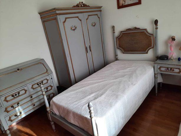 Mobilia de quarto completa solteiro antiguidade vintage barato