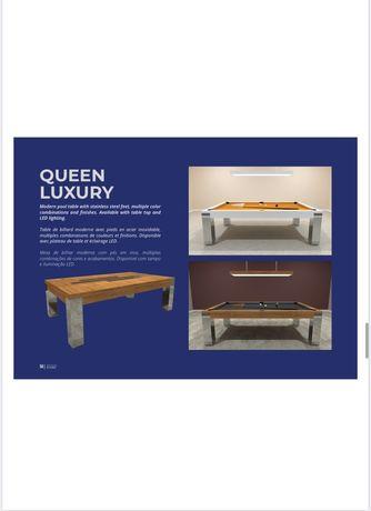 BilharesEuropa Fabricante NOVO mod Queen Luxury Oferta tampo de jantar