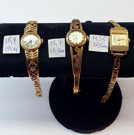 Продам золотые часы с браслетом производства СССР