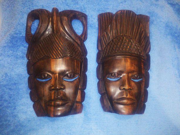 Африканская маска, чёрное дерево (гренадил)