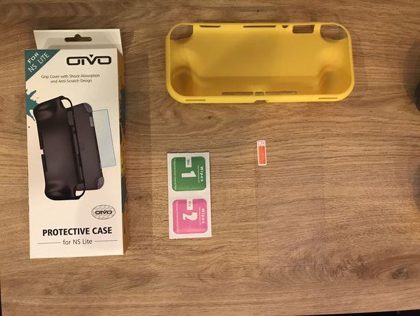 Etui case silikonowe na Nintendo Switch Lite *żółty* + szkło