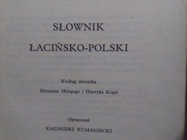 Słownik łacińsko-polski - Kumaniecki