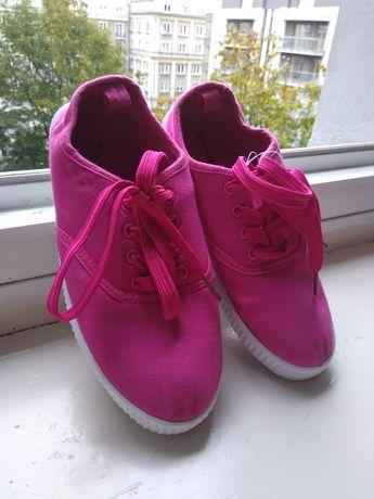 Trampki tenisówki różowe nowe 35