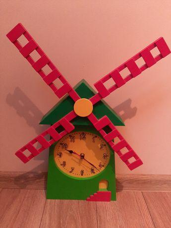 Dziecięcy zegarek na ścianę. Robiony ręcznie