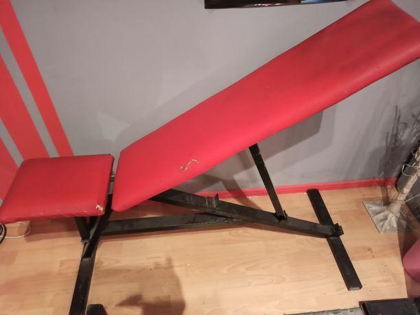 Ławka ławeczka do ćwiczeń regulowana pozioma / skośna