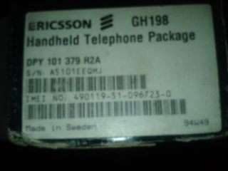ERICSSON Mobile Phone GH 198