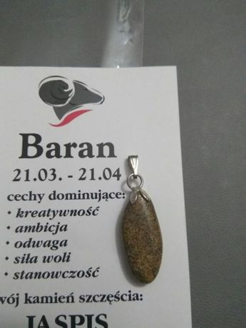 """Zawieszka, wisiorek, kamień""""Jaspis"""""""