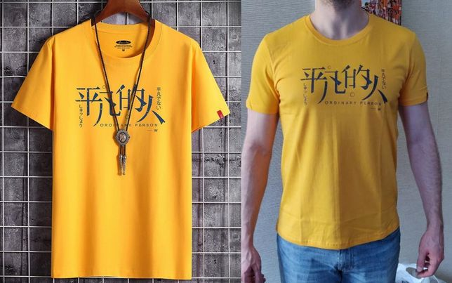 Oтличная мужская футболка хлопок с коротким рукавом T-Shirt