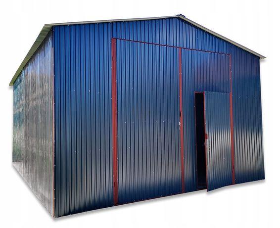 Garaż blaszany 5x7 hala dach dwuspadowy