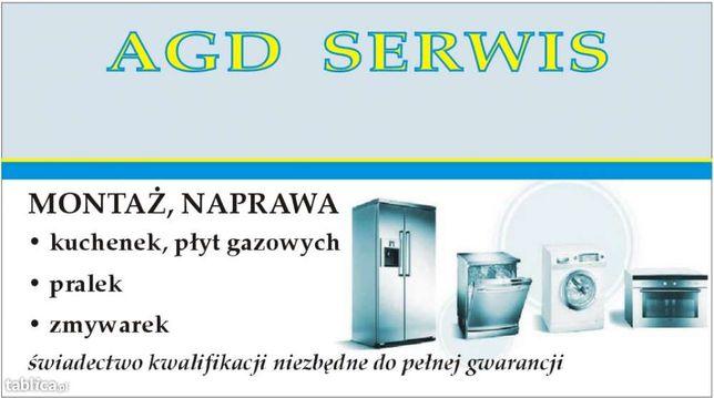 Naprawa montaż AGD pralki, kuchenki,zmywarki odkurzacze