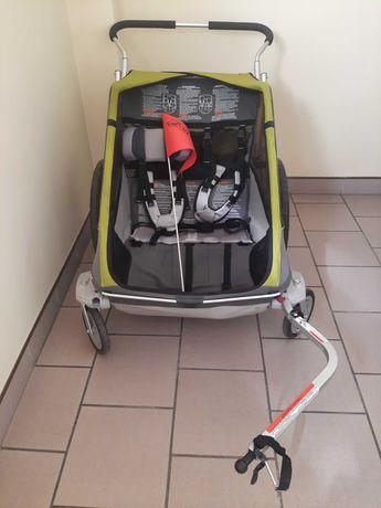 Przyczepka rowerowa / wózek Chariot Cougar - dwuosobowa - stan bdb