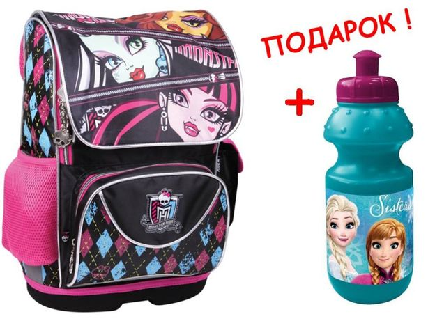 Рюкзак - ранец Kite, каркасный Кайт, Monster High, девочки, акция