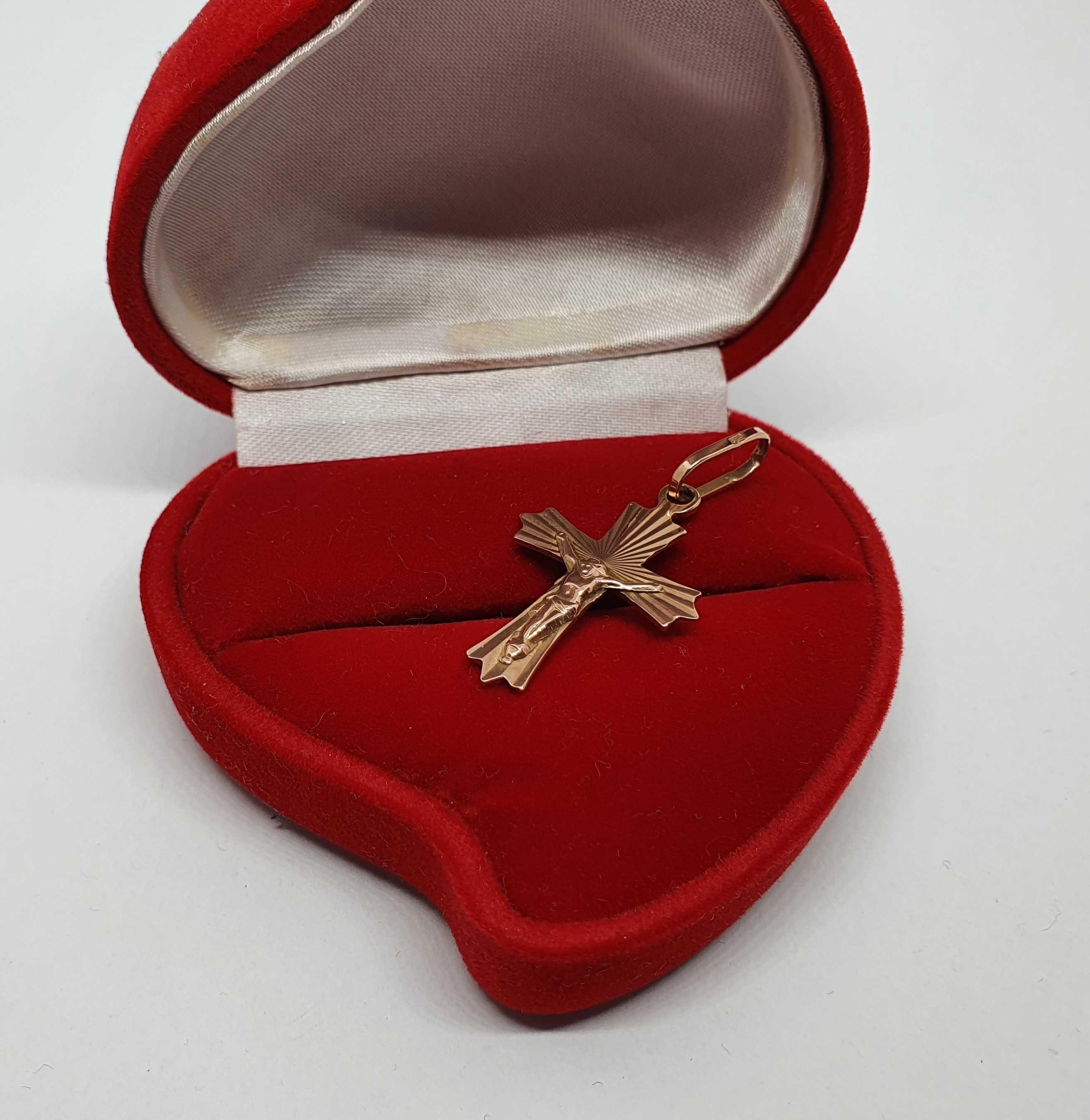 Krzyżyk złoty, złoto 14 KT, Lombard Jasło Czackiego