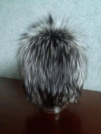 Зимняя меховая шапка(чернобурка), размер 56