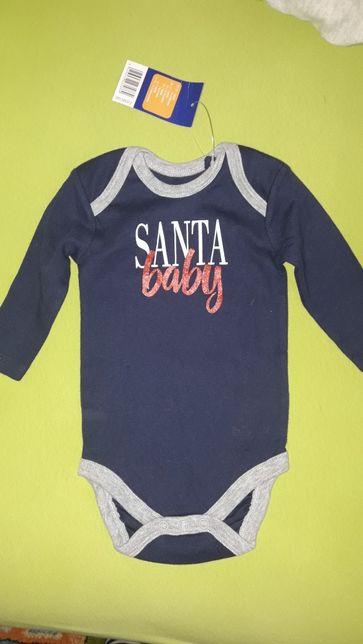 Новый новогодний боди Lupilu малыш Санта