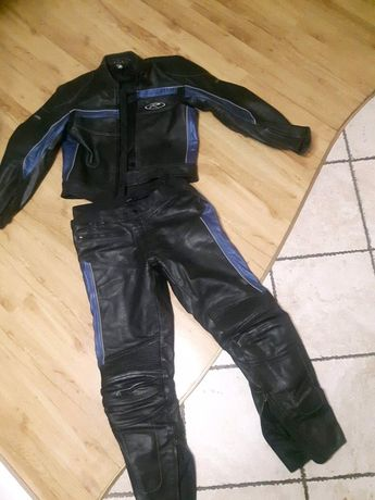 Komplet odzieży motocyklowej kurtka spodnie skora skorzane XXL XXL XL
