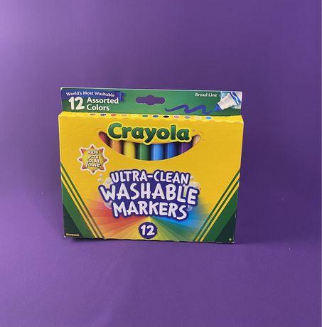 Водозмивні маркери Crayola 12 шт. привезені з Америки