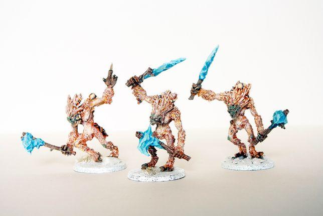 Warhammer AOS beastclaw raiders - Icefall Yhetees [Qb]