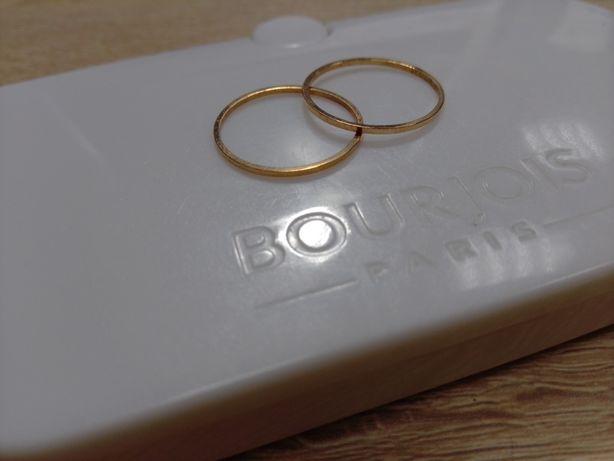 Кольца колечки тонкие размер 16 сталь с покрытием цвет золото