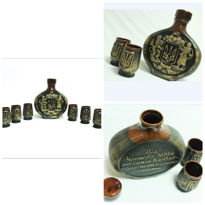 Штоф подарочный ''Україна'' для крепких спиртных напитков Каланчак - изображение 1