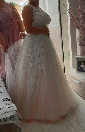 Piękna Suknia Ślubna pudrowy róż