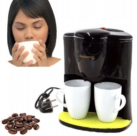 Новая кофеварка Crownberg  на 2 чашки / капельная кофеварка 600 вт