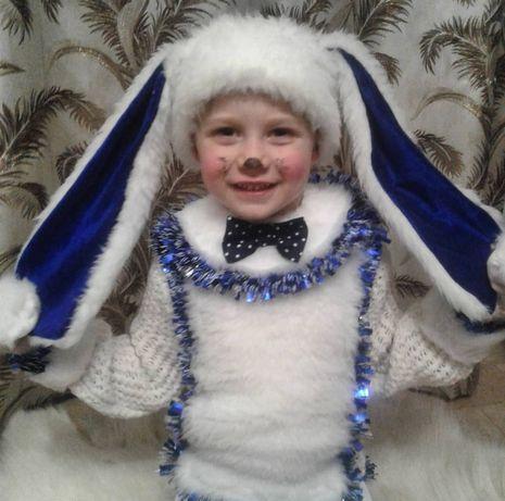 Шикарный милейший новогодний карнавальный костюм зайчика!