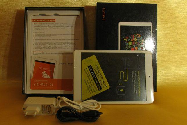 Tablet FunTab8 Orange nowy kompletny
