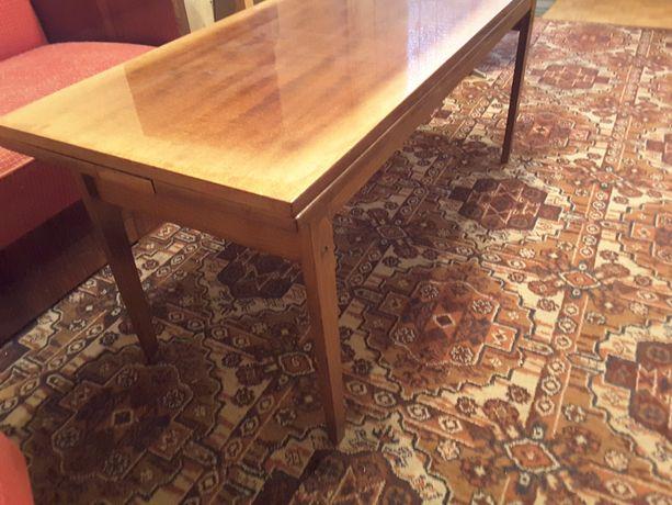 Ława PRL rozkładana do renowacji stolik stół meble ławostół lata 70