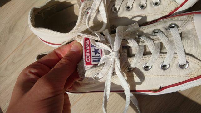 Kremowe converse all star krotkie 39.5 trampki buty sportowe tenisówki