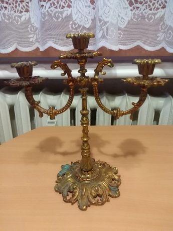 Piękny stary lichtarz, brąz, wysokość 25 cm