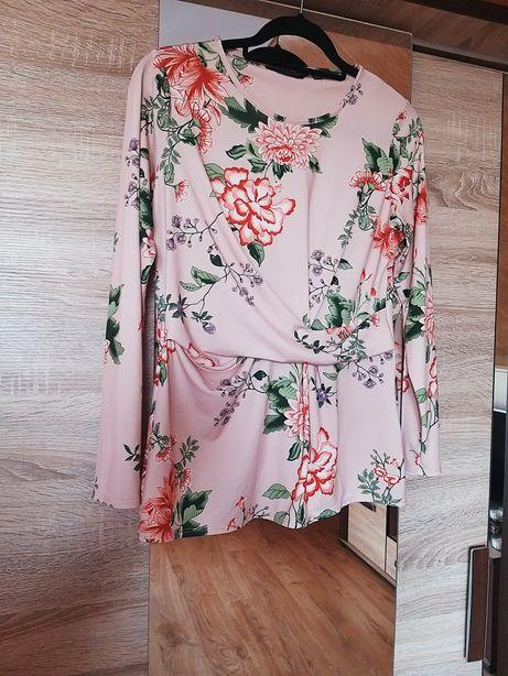 Kwiecista bluzka elegancka kwiaty l 40 Dorothy Perkins rękaw rękawem