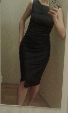 Брендовое платье футляр FERRE Milano Италия р.44 цвет графит