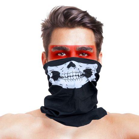 Баф с черепом маска на лицо череп с челюстью подшлемник еластичный