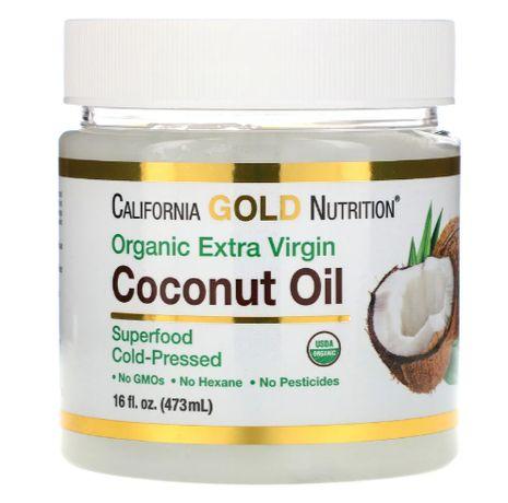 Кокосовое масло органическое США California Gold Nutrition