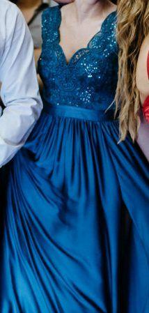 EMO sukienka chabrowa julliete r.38 stan idealny wesele/studniówka