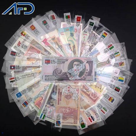 Оригинальный набор банкнот мира, купюр.